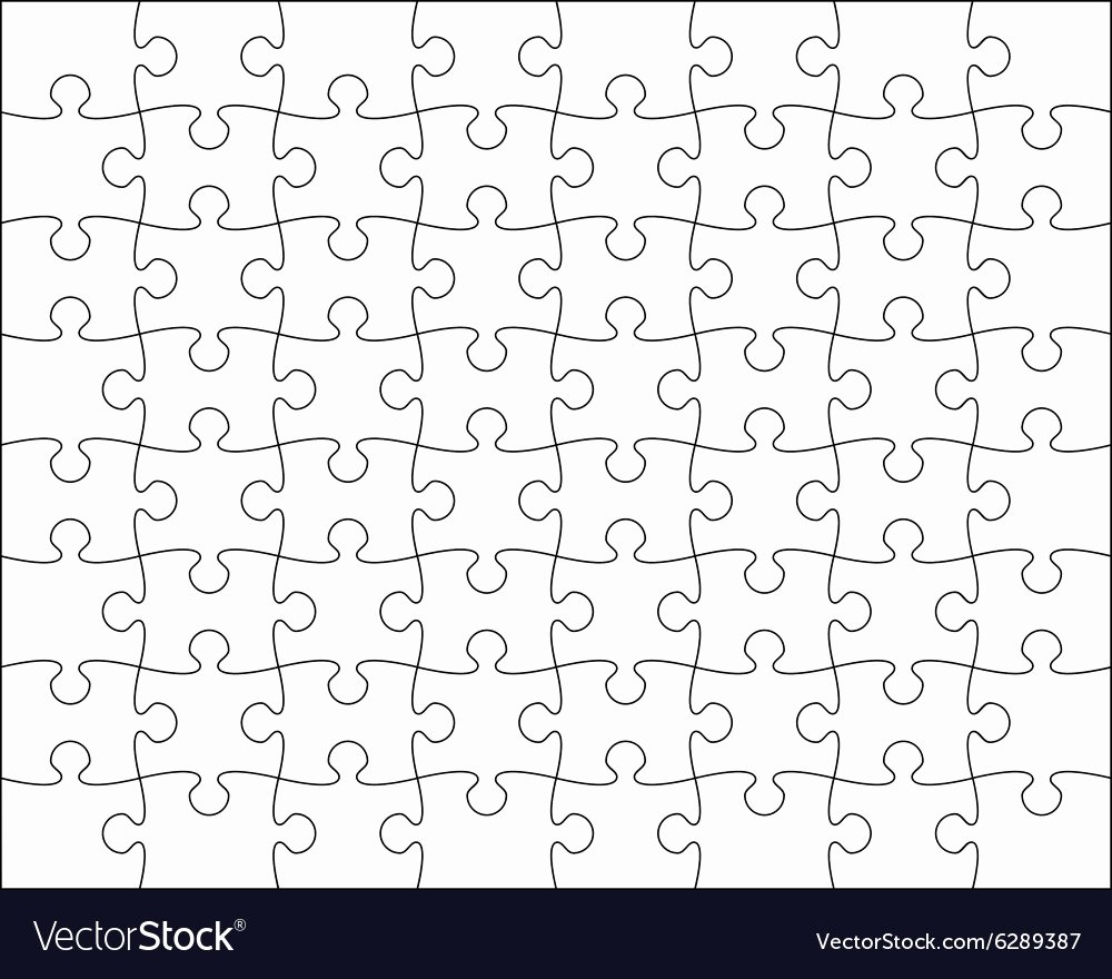 Puzzle Pieces Template for Word Unique Jigsaw Puzzle Template Editable Blend Royalty Free Vector