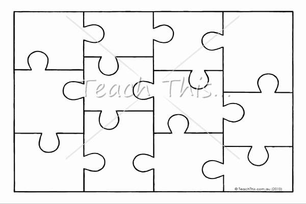 Puzzle Pieces Template for Word Unique Jigsaw Puzzle Template Printable Teacher Resources