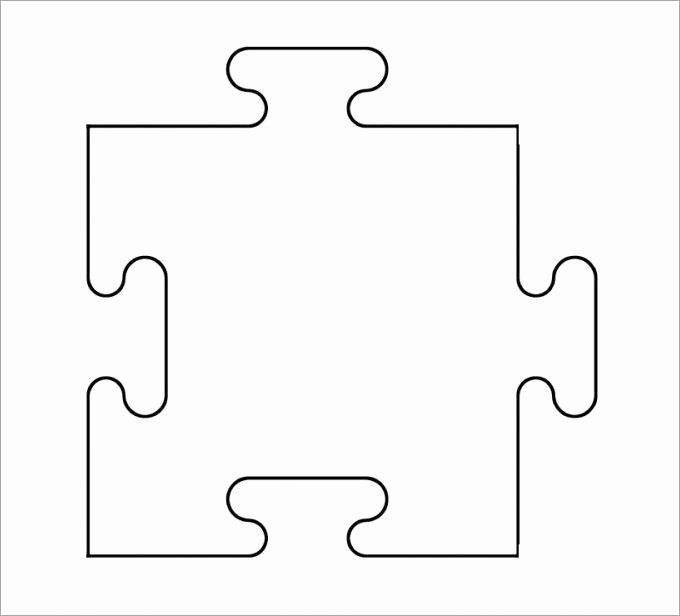 Puzzle Pieces Template for Word Unique Puzzle Pieces Template for Word – Free Download