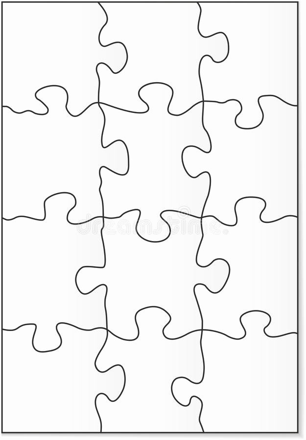 Puzzle Template 9 Pieces Beautiful 12 Piece Puzzle Template Stock Vector Illustration Of