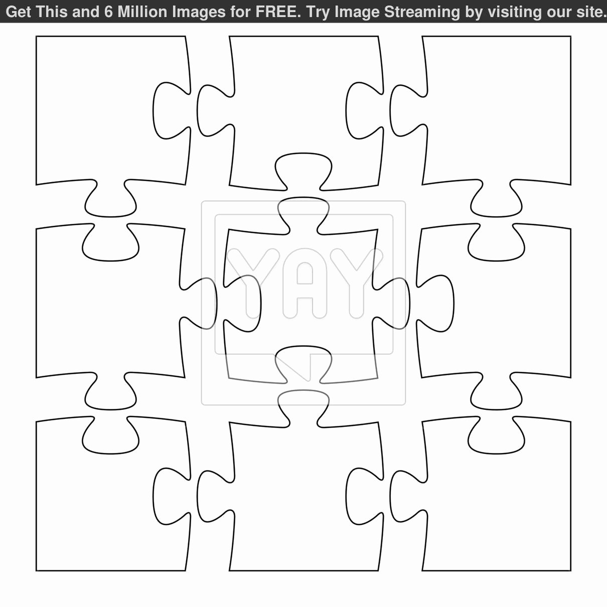 Puzzle Template 9 Pieces Best Of Nine Piece Puzzle Template