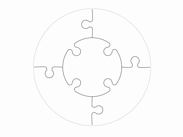 Puzzle Template 9 Pieces Best Of Part and Stock S istock