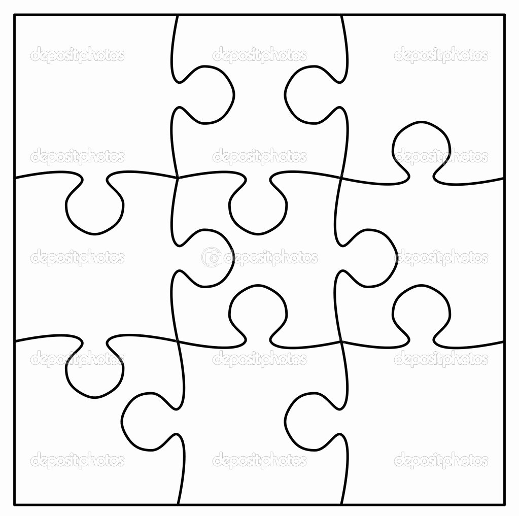Puzzle Template 9 Pieces Elegant Best S Of 9 Piece Jigsaw Puzzle Blank Blank Puzzle