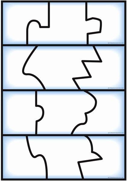 Puzzle Template 9 Pieces Fresh Self Correcting Editable Puzzle Templates K 3 Teacher
