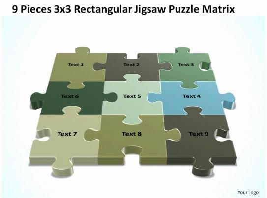 Puzzle Template 9 Pieces Inspirational 3d 9 Pieces 3x3 Rectangular Jigsaw Puzzle Matrix