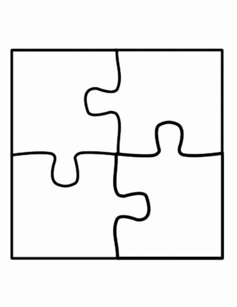 Puzzle Template 9 Pieces Inspirational Puzzle Template Four Piece Jigsaw Puzzle Template Use