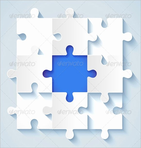 Puzzle Template 9 Pieces Luxury 9 Puzzle Pieces Psd Vector Eps