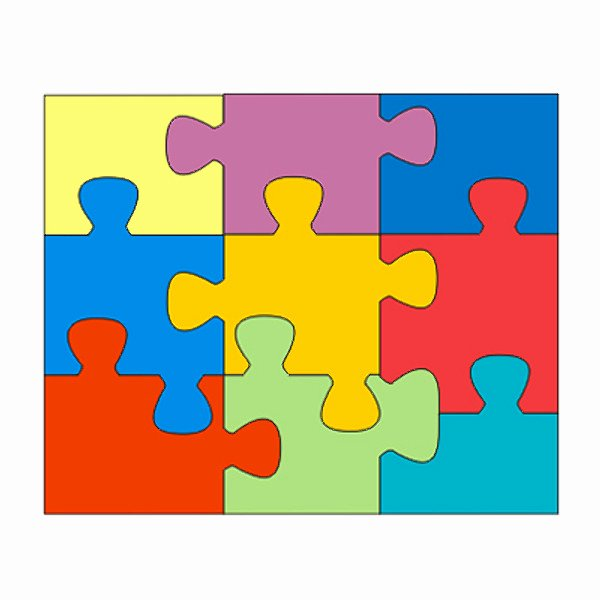 Puzzle Template 9 Pieces New Puzzle Outline 9 Pieces Clipart Best