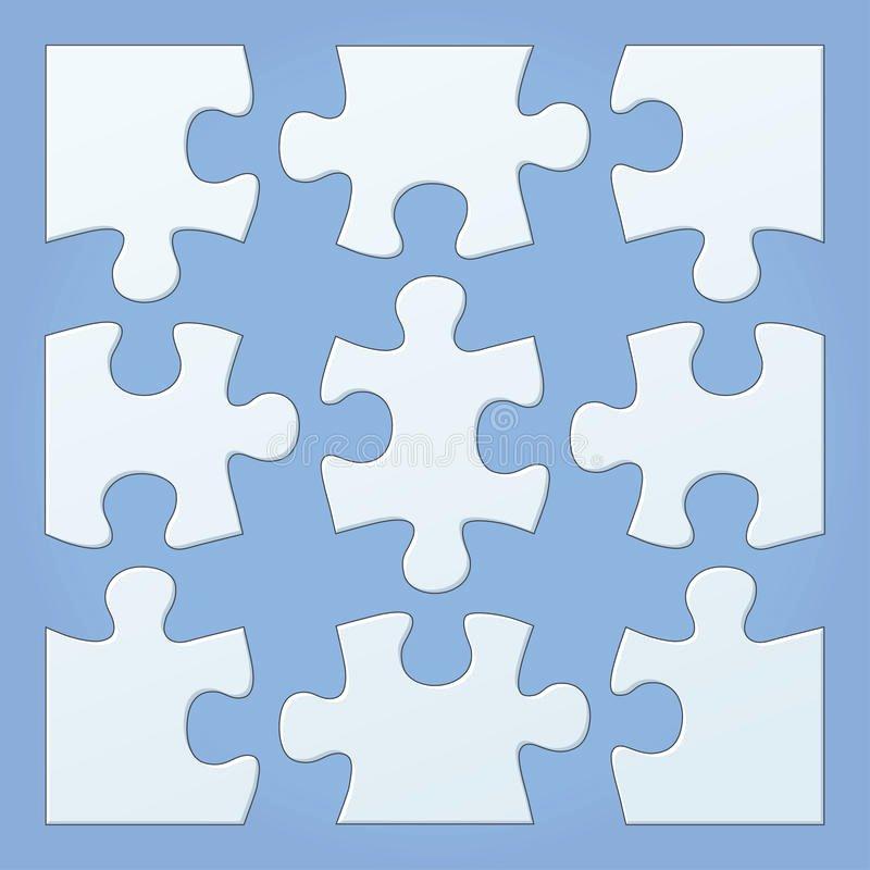 Puzzle Template 9 Pieces Unique Puzzle Pieces Stock Vector Illustration Of Infographic