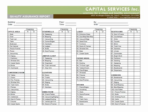 Quality assurance Report Sample Elegant Capital Services Inc