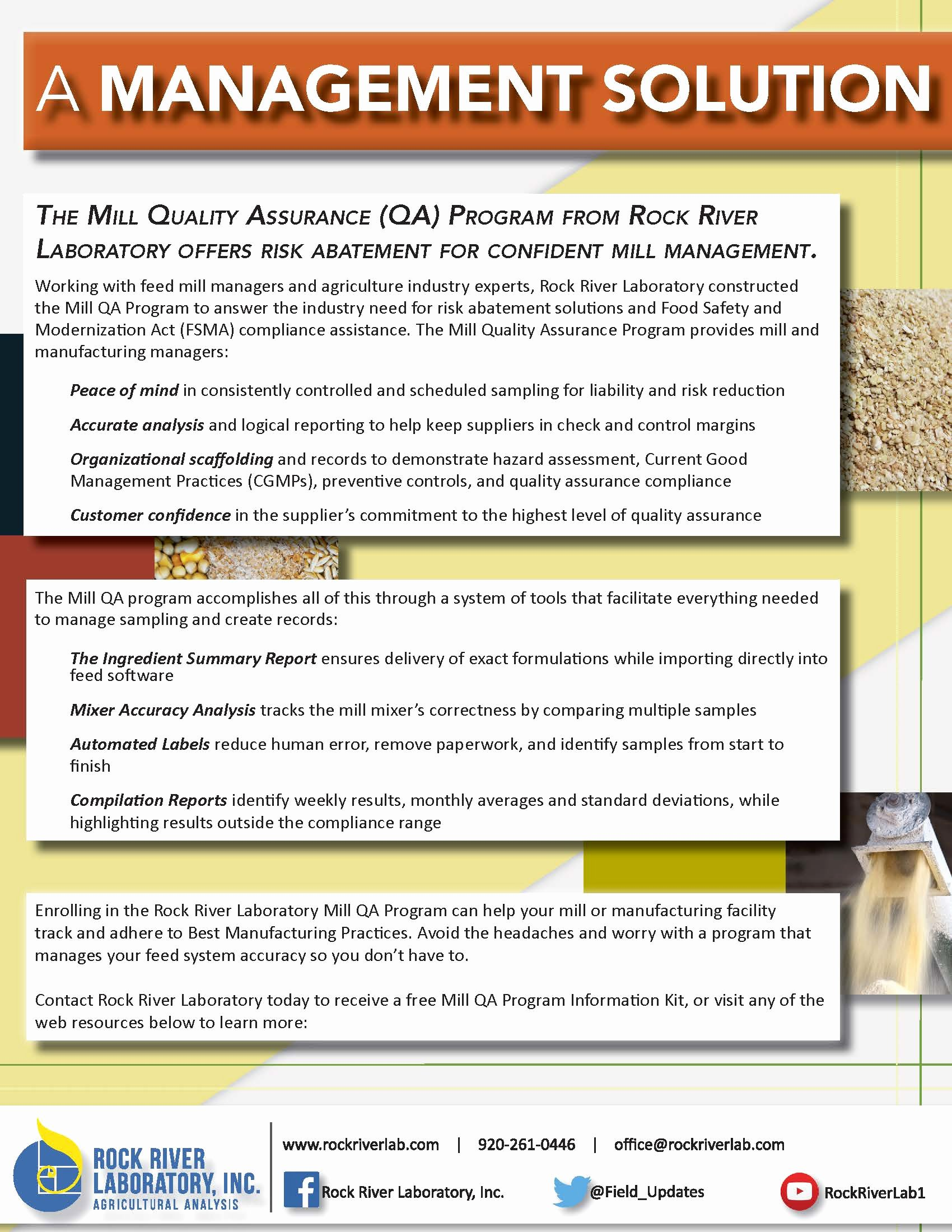 Quality assurance Report Sample Fresh Mill Quality assurance Program Rock River Labs
