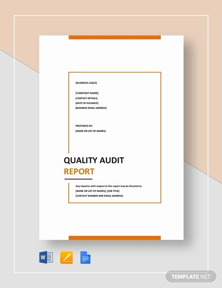 Quality assurance Report Sample Inspirational Free 12 Quality Report Examples In Word Pdf