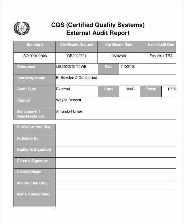 Quality assurance Report Sample Lovely 13 Quality Audit Report Templates Google Docs Word