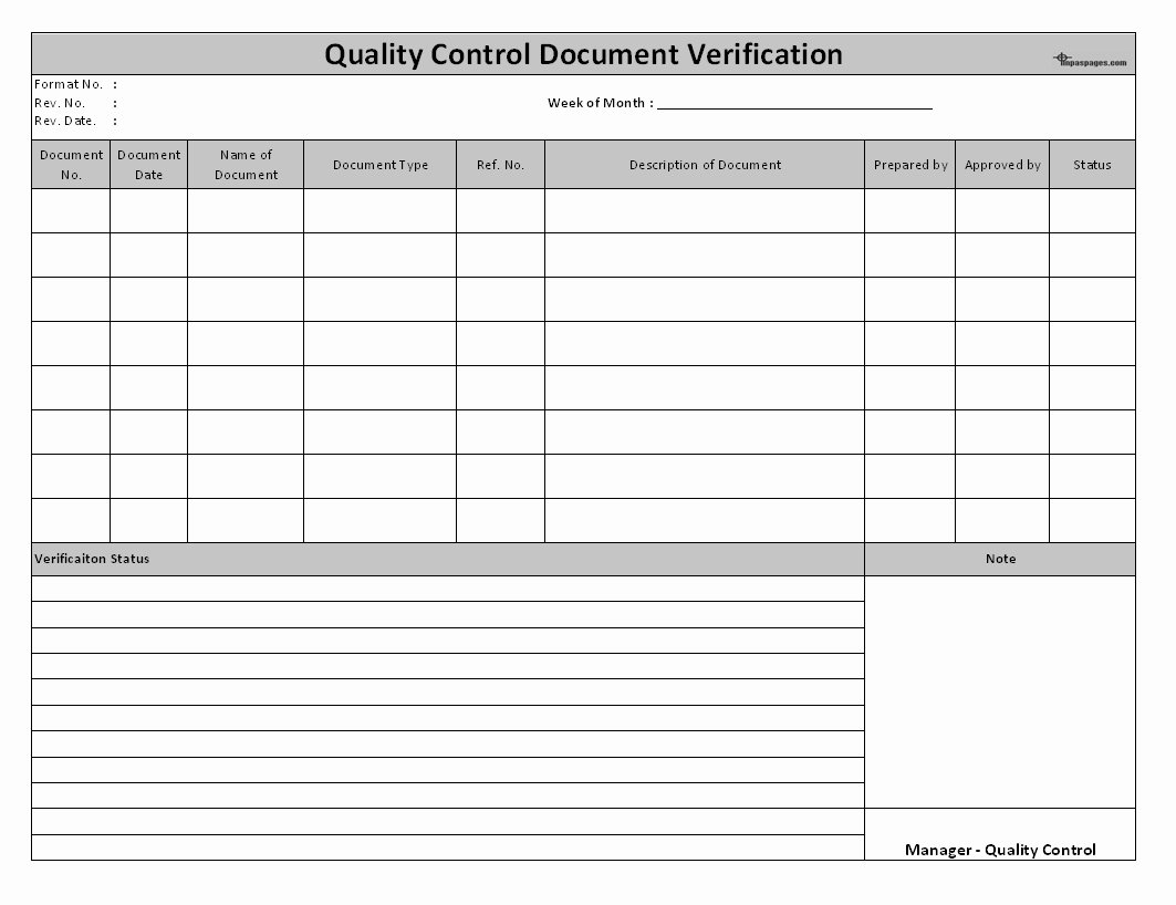 Quality Control Documents Template Beautiful Quality Control Report Template