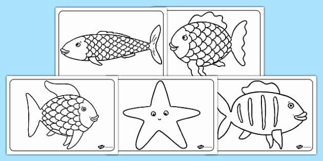 Rainbow Fish Printable Template Awesome Free Colouring Sheets to Support Teaching On the