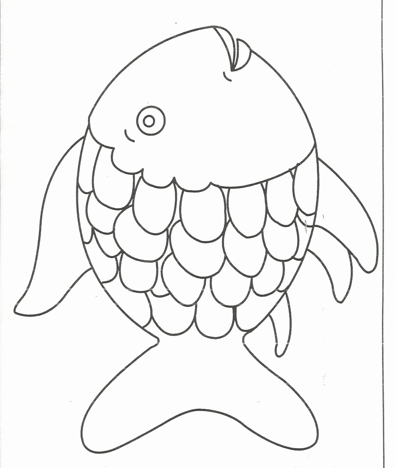 Rainbow Fish Printable Template Beautiful Fish with Scales Coloring Pages Coloring Pages