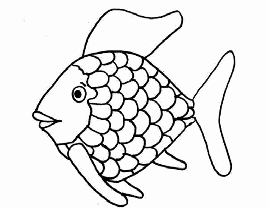 Rainbow Fish Printable Template Beautiful Rainbow Fish Outline