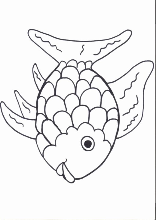 Rainbow Fish Printable Template Best Of Printable Rainbow Fish Line Coloring Page for