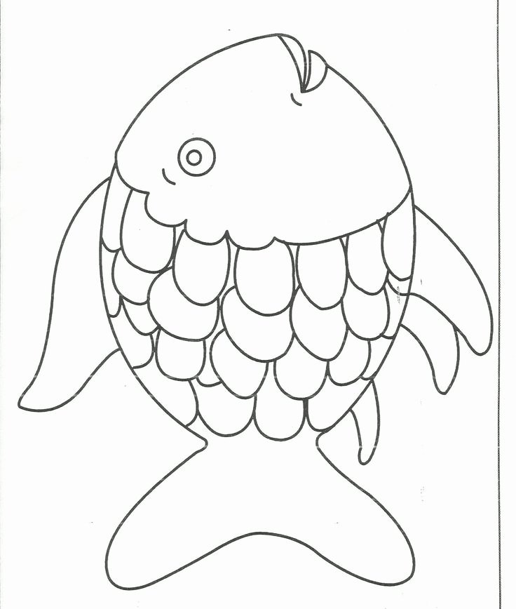 Rainbow Fish Printable Template Best Of Rainbow Fish Coloring Page Free