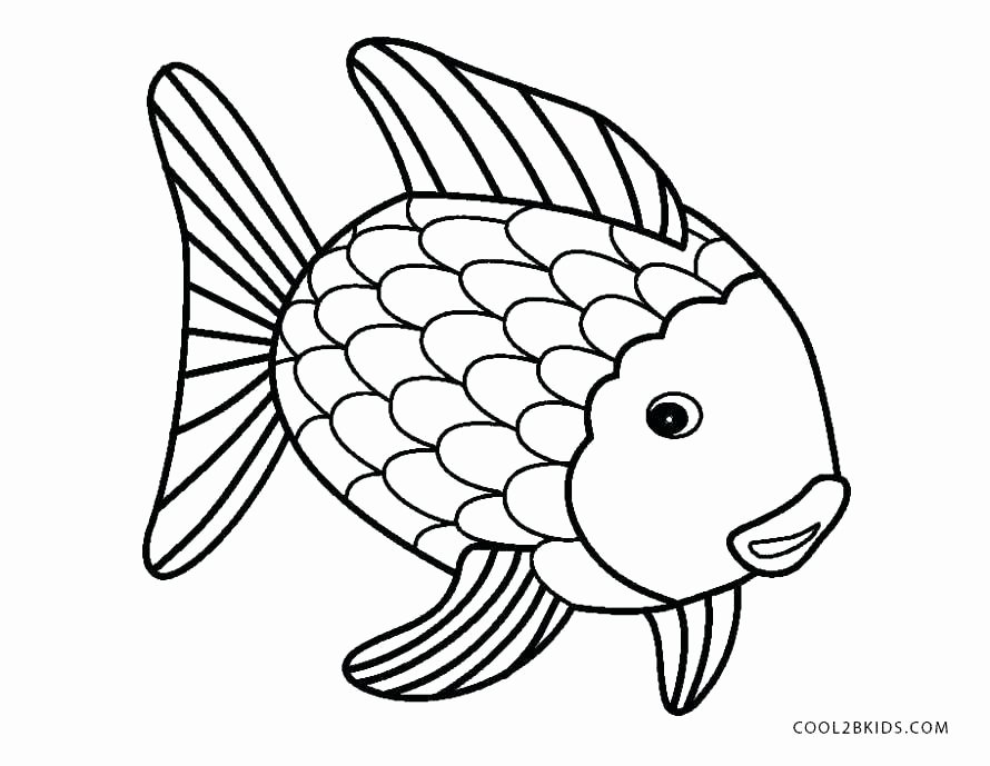 Rainbow Fish Printable Template Fresh Rainbow Drawing Template at Getdrawings