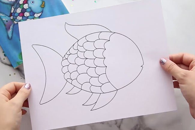 Rainbow Fish Printable Template Inspirational Rainbow Fish Craft with Free Template the Best Ideas for