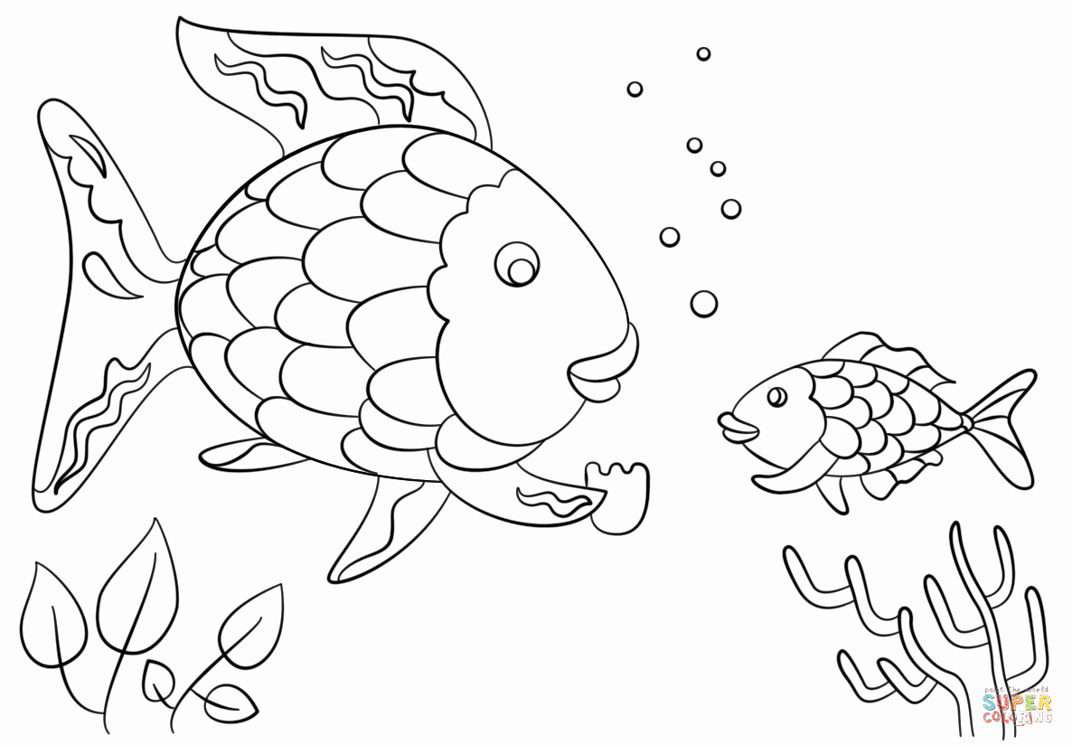 Rainbow Fish Printable Template Luxury Rainbow Fish Gives A Precious Scale to Small Fish Coloring