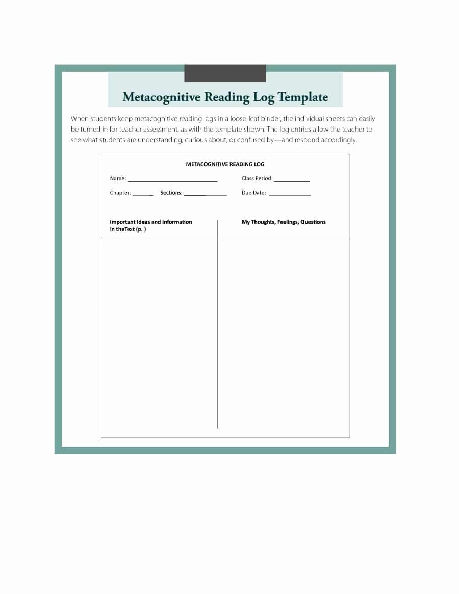 Reading Log Template Middle School Elegant 47 Printable Reading Log Templates for Kids Middle School