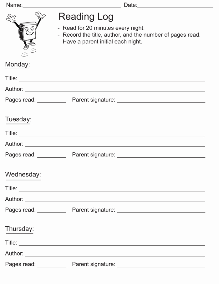 Reading Log Template Middle School Lovely 8 Reading Log Templates to Keep Your Reading Logs