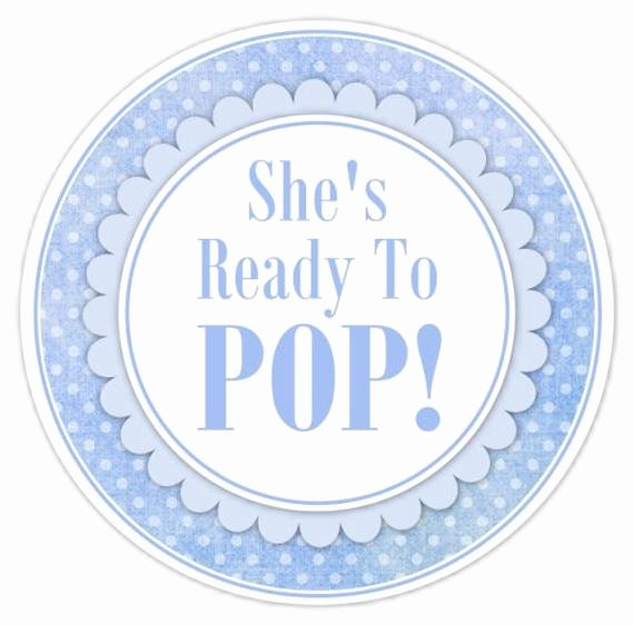 Ready to Pop Template Beautiful Baby Shower Ready to Pop Labels Blue Polka by Delightdesignbiz