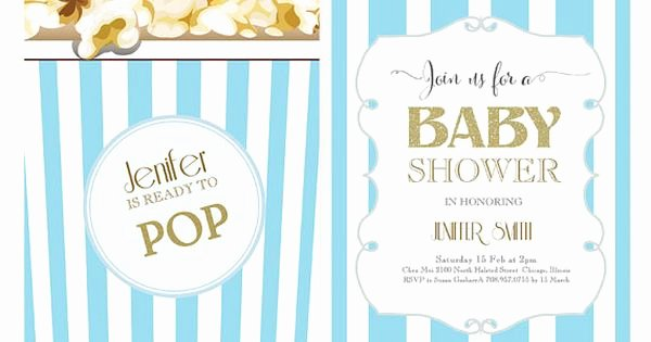 Ready to Pop Template Beautiful Word Template Baby Shower Invitation