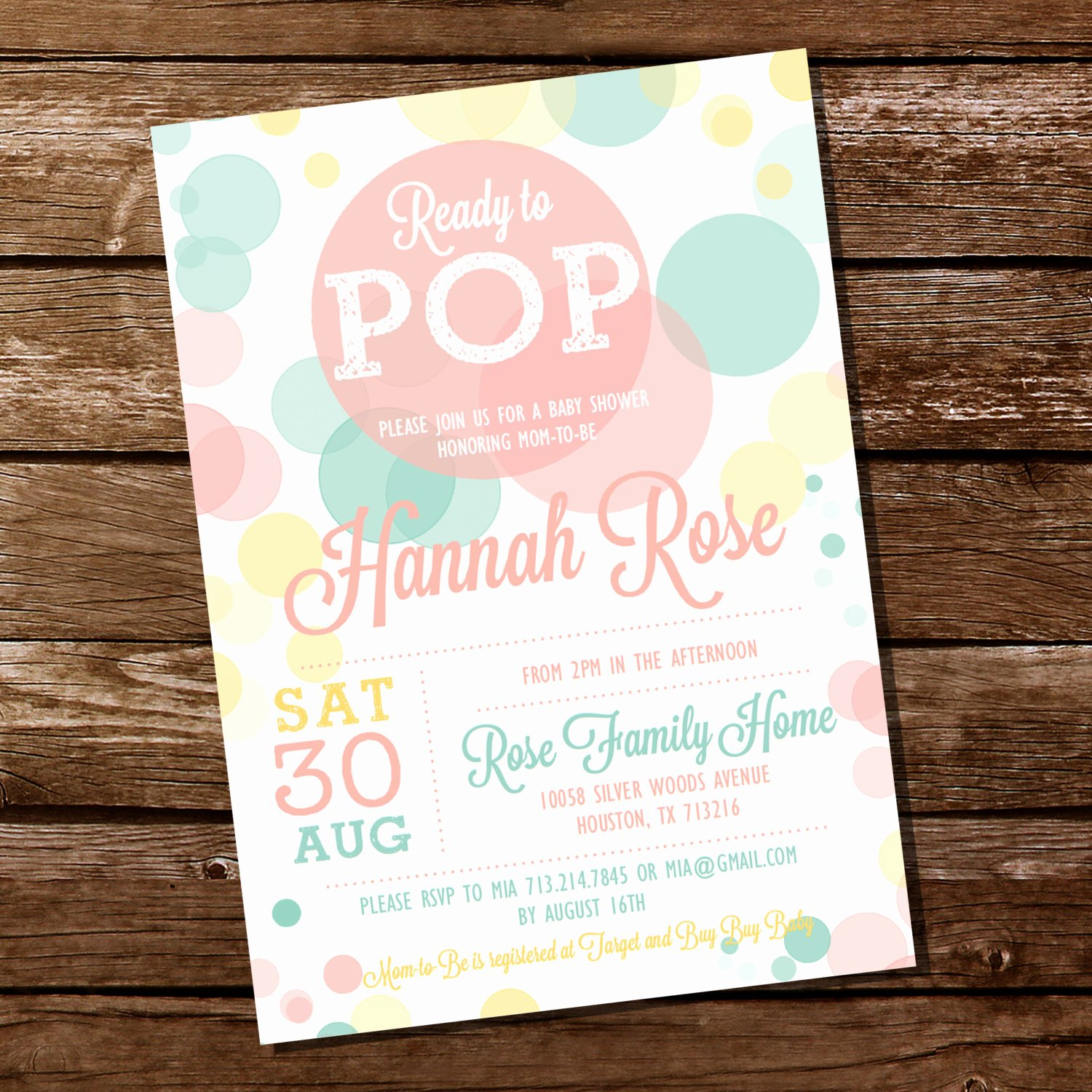 Ready to Pop Template Fresh Ready to Pop Baby Shower Invitation for A Uni Baby Shower