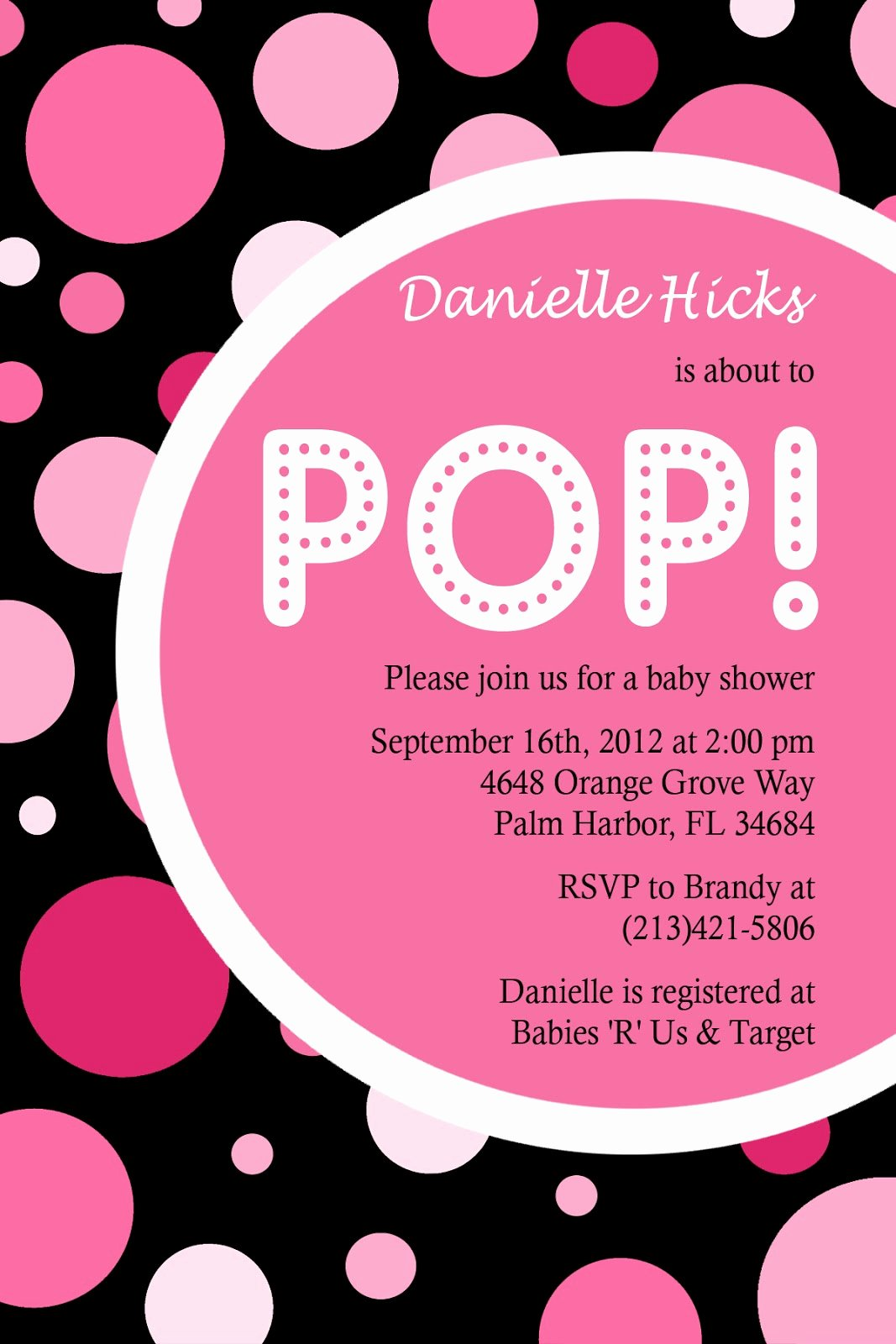 Ready to Pop Template Fresh Ready to Pop Invitation Templates