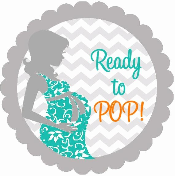 baby shower chevron she is ready to pop