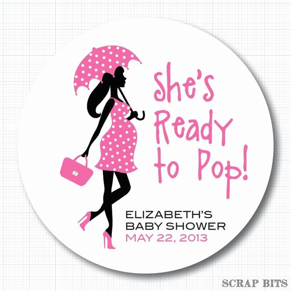 Ready to Pop Template Lovely Ready to Pop Pregnant Lady with Umbrella Personalized