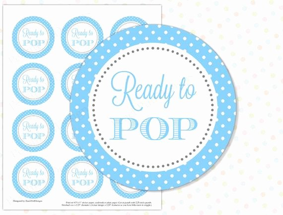 Ready to Pop Template Lovely Ready to Pop Sticker Blue Instant Download Ready to Pop