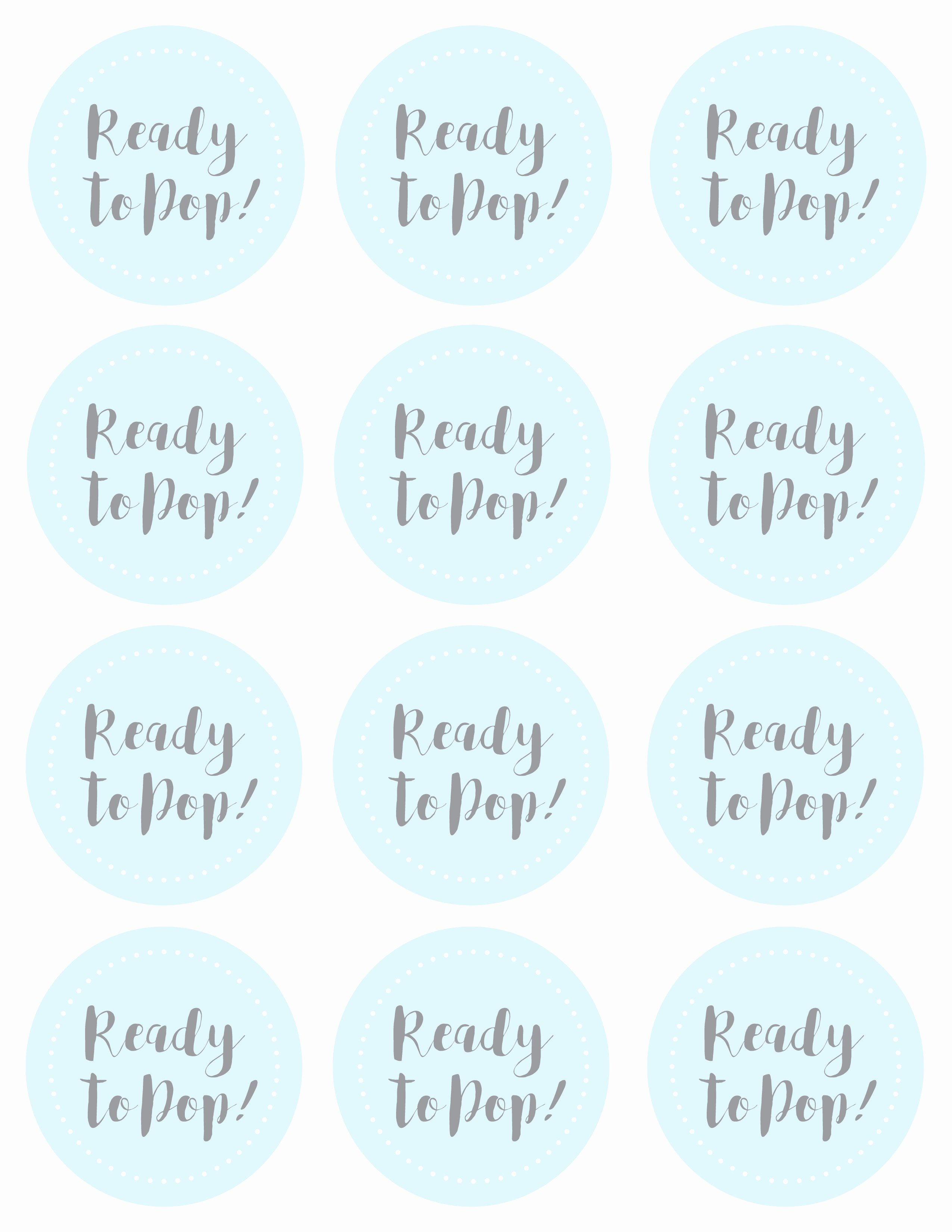 Ready to Pop Template New Baby Shower Craft Ready to Pop Favor Mud and Magnolias