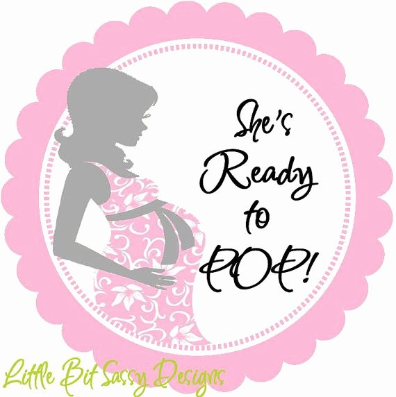 Ready to Pop Template Unique Baby Shower Mommy to Be She is Ready to Pop Personalized