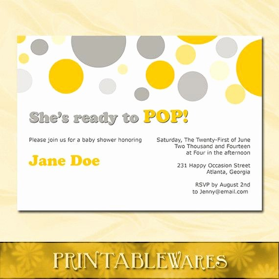 Ready to Pop Template Unique Items Similar to Ready to Pop Baby Shower Invitation