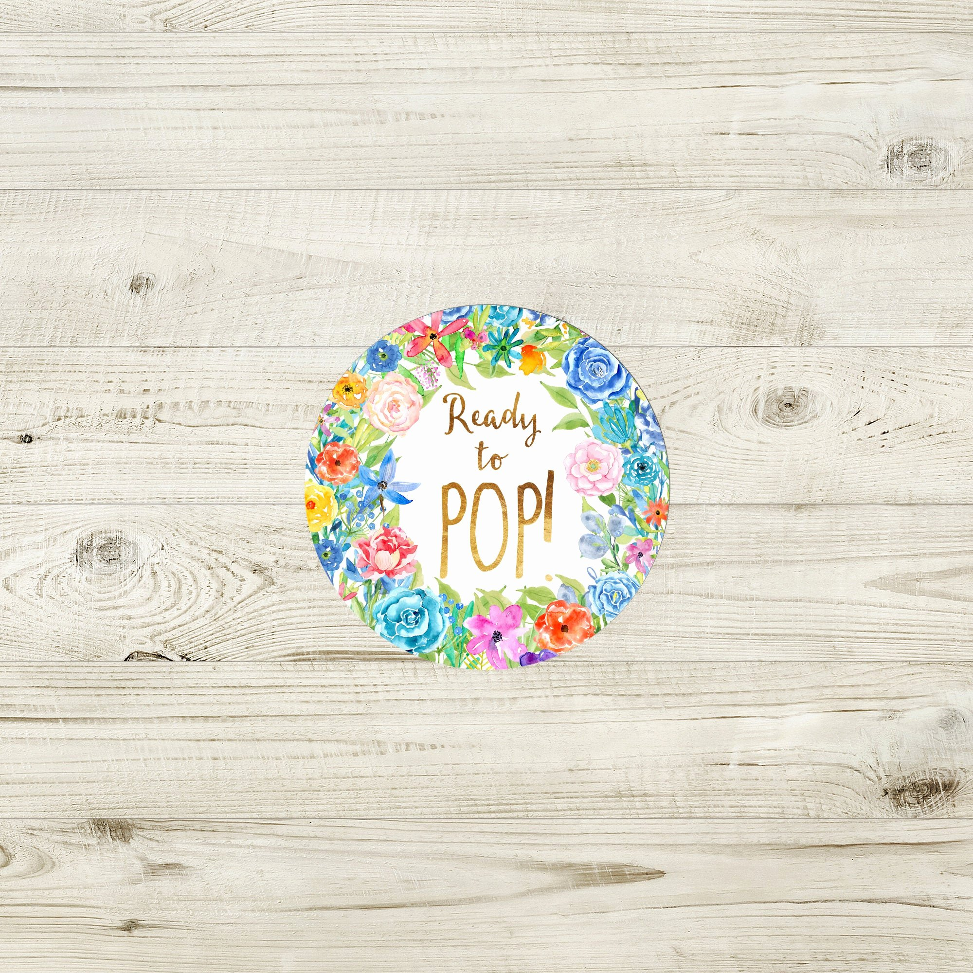 Ready to Pop Template Unique Ready to Pop Sticker Template Garden Baby Shower Ready to