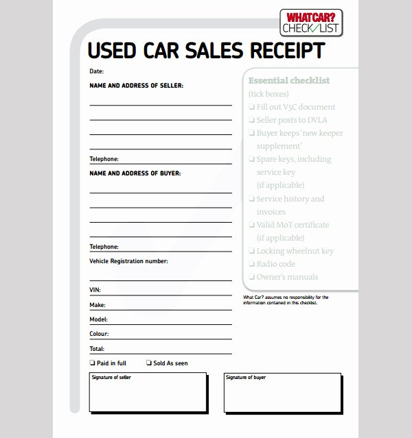 Receipt Of Sale Template Best Of Sample Car Sale Receipt Car Sale Receipt Template