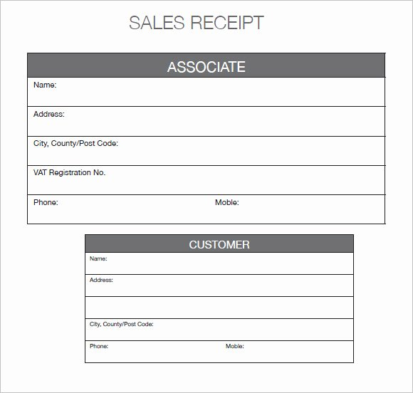 Receipt Of Sale Template Fresh 10 Sales Receipt Templates – Free Samples Examples format