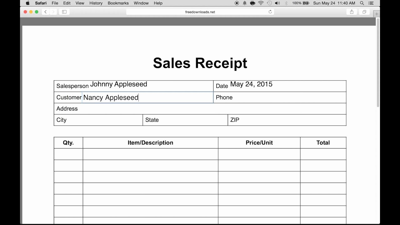 Receipt Of Sale Template Luxury How to Write An Itemized Sales Receipt form