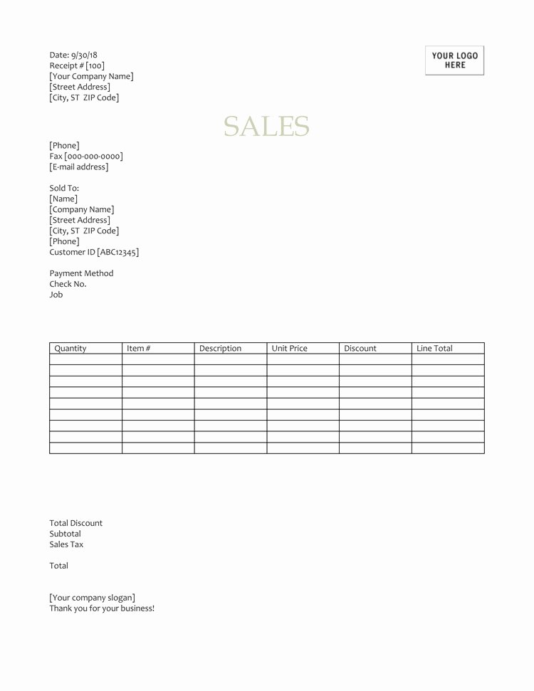 Receipt Of Sale Template New 12 Free Sales Receipt Templates Word Excel Pdf