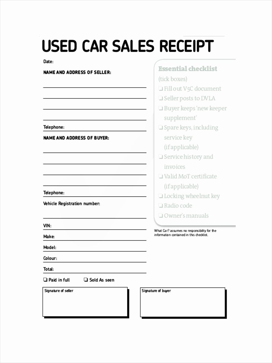 Receipt Of Sale Template New 12 Sales Receipt Examples & Samples Pdf Word Pages