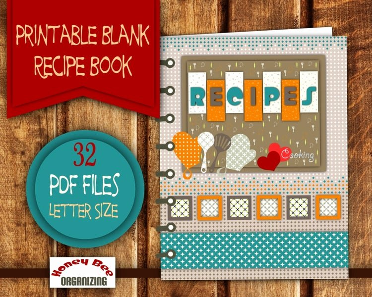 Recipe Book Template Pages Best Of Diy Printable Recipe Book Recipe Binder by Honeybeeorganizing
