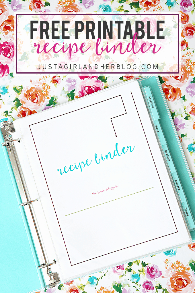Recipe Book Template Pages Elegant Free Printable Recipe Binder Just A Girl and Her Blog