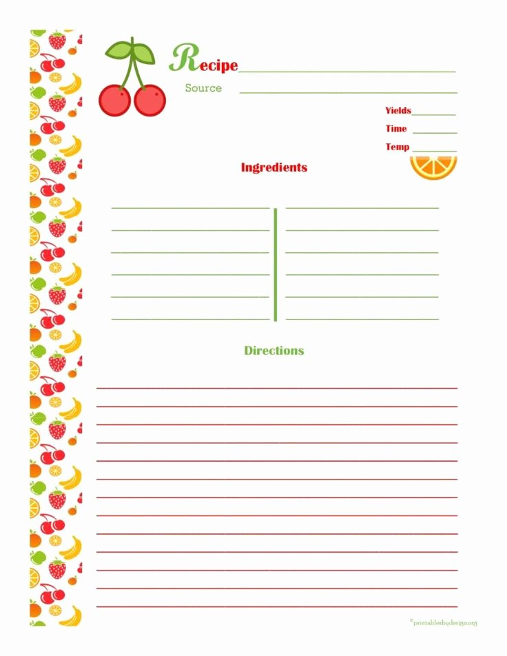 Recipe Book Template Pages New 25 Unique Cookbook Template Ideas On Pinterest