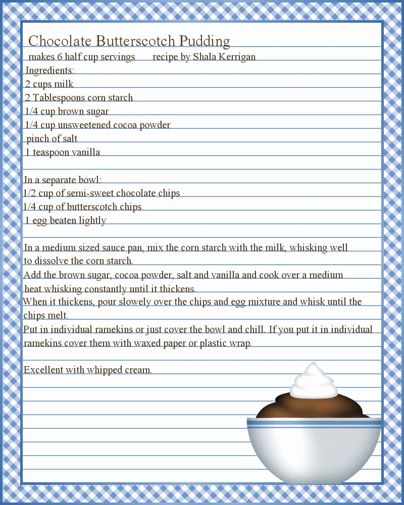 Recipe Templates Microsoft Word New Don T Eat the Paste Pudding Recipe and Printable Recipe