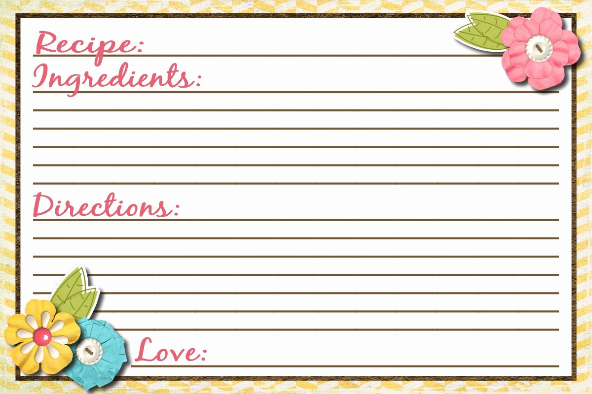 Recipe Templates Microsoft Word New Recipe Card Template
