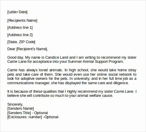 Recommendation Letter Examples for Jobs Fresh 28 Letter Of Re Mendation In Word Samples